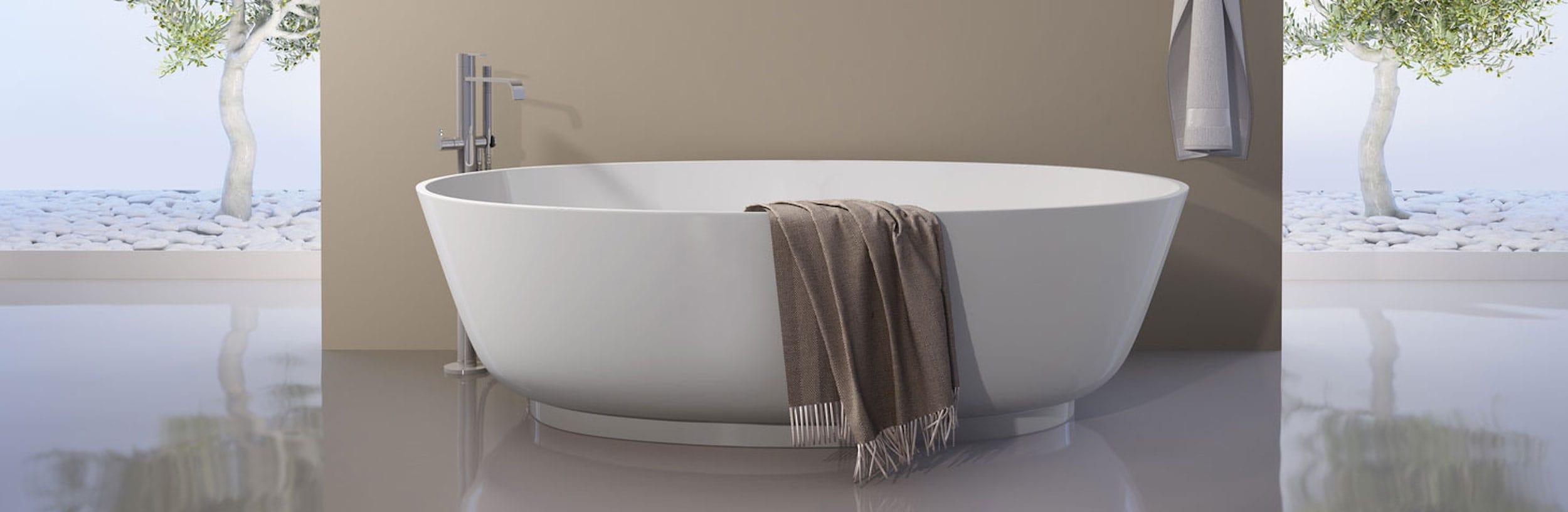enduit tadelakt salle de bain un mat riau naturel au design contemporain. Black Bedroom Furniture Sets. Home Design Ideas